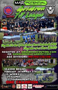 Max Potential Rehab Gridiron 7v7 League Flyer
